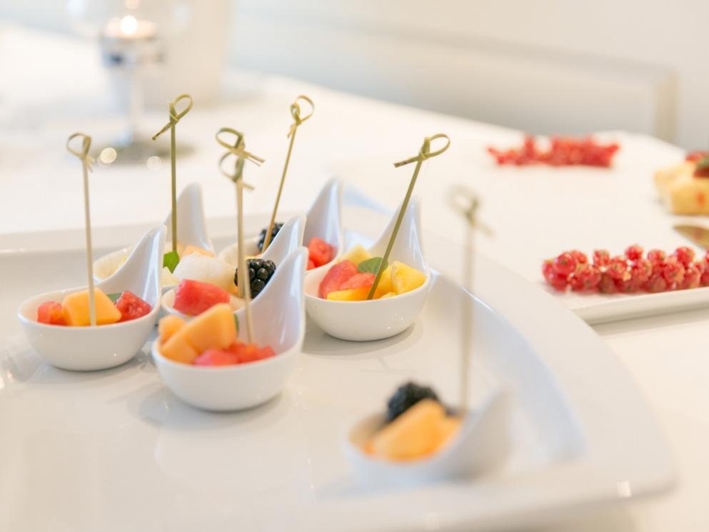 Früchtesnack bei einer Tagung