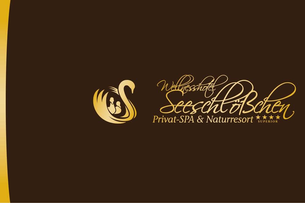 Logo auf den Prospekt des Seeschlößchens
