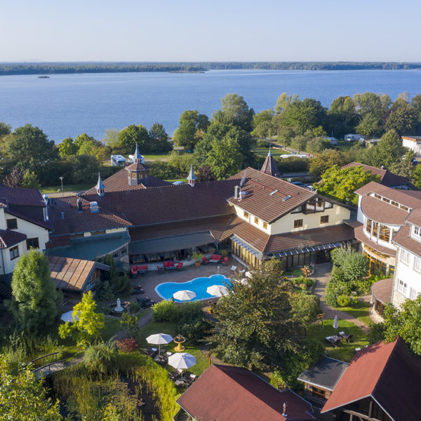 Hotel Seeschlösschen von oben
