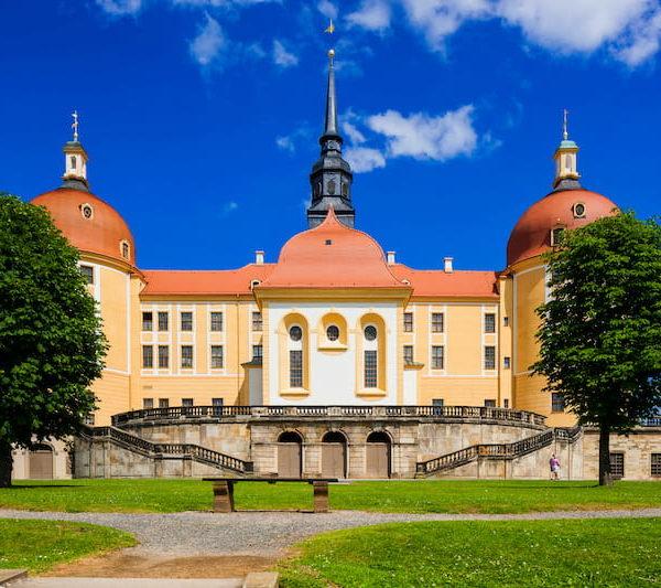 Schloss Moritzburg im Sommer Fotograf Sylvio-Dittrich schloesserland-sachsen.de